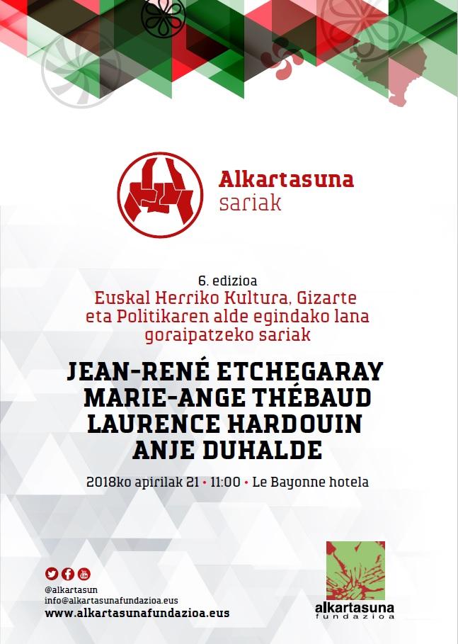 Kartela Sariak 6 edizioa 2018